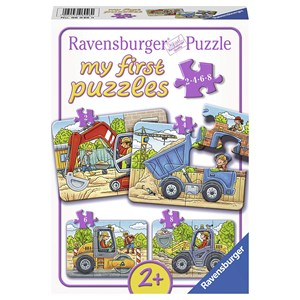 """Ravensburger (06946) - """"Mes Véhicules de Construction Préférés"""" - 2 4 6 8 pièces"""