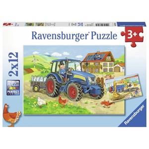"""Ravensburger (07616) - """"Tracteur à la Ferme"""" - 12 pièces"""