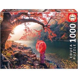 """Educa (18455) - """"Sunrise on the river Katsura, Japan"""" - 1000 pièces"""