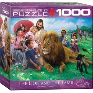 """Eurographics (8000-0345) - Nathan Greene: """"Jésus, le lion et l'agneau"""" - 1000 pièces"""