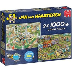 """Jumbo (19099) - Jan van Haasteren: """"BBQ Party!"""" - 1000 pièces"""