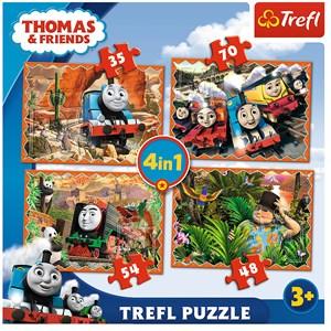 """Trefl (34300) - """"Travels around the world"""" - 35 48 54 70 pièces"""