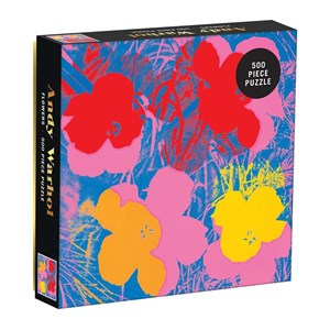 """Chronicle Books / Galison (9780735357839) - Andy Warhol: """"Flowers"""" - 500 pièces"""