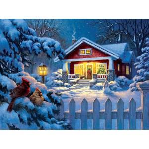 """SunsOut (55989) - Corbert Gauthier: """"Christmas Bungalow"""" - 1000 pièces"""
