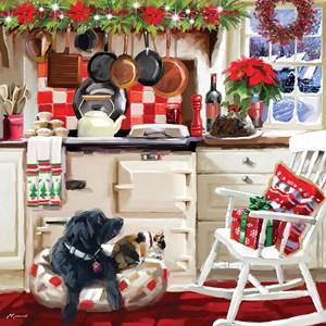"""Otter House Puzzle (74138) - Richard Macneil: """"Christmas Kitchen"""" - 1000 pièces"""