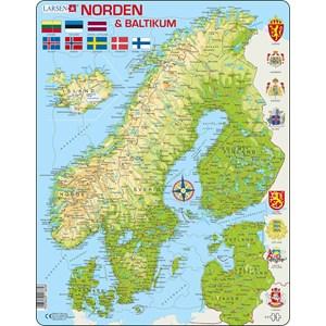"""Larsen (K3) - """"Carte des Pays Nordiques"""" - 75 pièces"""