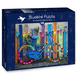 "Bluebird Puzzle (70010) - ""My Beautiful Colorful Bike"" - 1000 pièces"