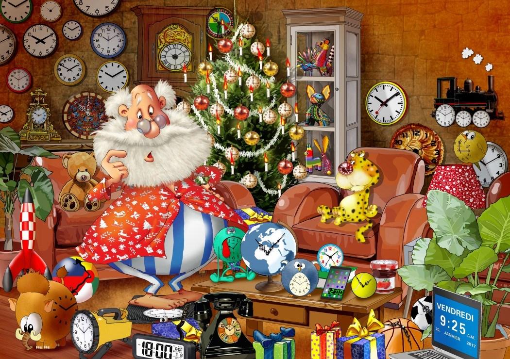 "Noël Jigsaw Puzzle /""Ye old Christmas SHOPPE/"" 1000 pièces par Bluebird"
