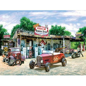 """SunsOut (37179) - Greg Giordano: """"Route 66 General Store"""" - 300 pièces"""