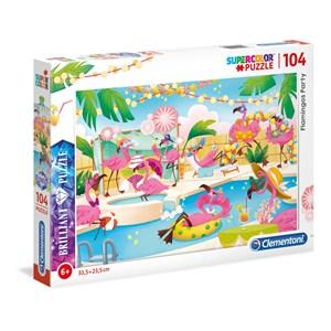 """Clementoni (20151) - """"Flamingos party"""" - 104 pièces"""