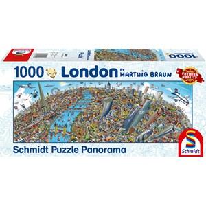 "Schmidt Spiele (59596) - Hartwig Braun: ""Londres"" - 1000 pièces"