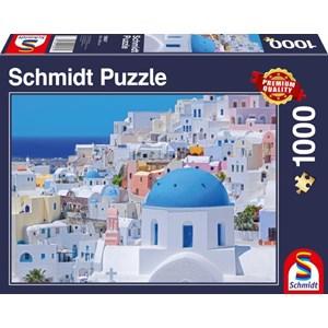 """Schmidt Spiele (58947) - """"Santorini"""" - 1000 pièces"""