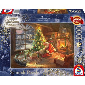 "Schmidt Spiele (59495) - Thomas Kinkade: ""Santa's Special Delivery"" - 1000 pièces"