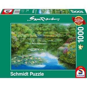 "Schmidt Spiele (59657) - Sam Park: ""Water Lily Pond"" - 1000 pièces"