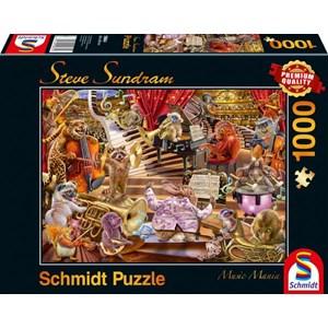"Schmidt Spiele (59664) - Steve Sundram: ""Music Mania"" - 1000 pièces"