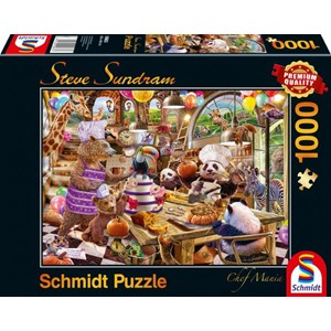 "Schmidt Spiele (59663) - Steve Sundram: ""Chef Mania"" - 1000 pièces"
