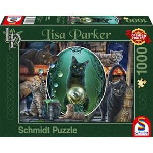 """Schmidt Spiele (59665) - Lisa Parker: """"Magical Cats"""" - 1000 pièces"""