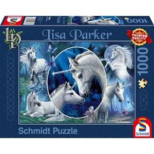 """Schmidt Spiele (59668) - Lisa Parker: """"Charming Unicorns"""" - 1000 pièces"""