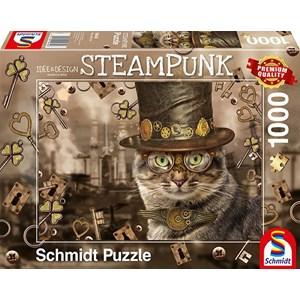 """Schmidt Spiele (59644) - Markus Binz: """"Steampunk Cat"""" - 1000 pièces"""