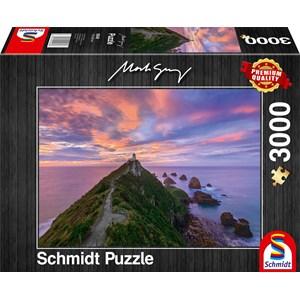 "Schmidt Spiele (59348) - Mark Gray: ""Nugget Point Lighthouse, New Zealand"" - 3000 pièces"