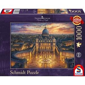 "Schmidt Spiele (59628) - Thomas Kinkade: ""Vatican Sunset"" - 1000 pièces"