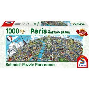 """Schmidt Spiele (59597) - Hartwig Braun: """"Paris Cityscape"""" - 1000 pièces"""