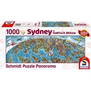 """Schmidt Spiele (59595) - Hartwig Braun: """"Sidney Cityscape"""" - 1000 pièces"""