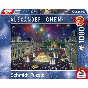 "Schmidt Spiele (59648) - Alexander Chen: ""Fireworks at the Louvre"" - 1000 pièces"