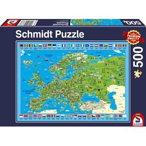 "Schmidt Spiele (58373) - ""Discover Europe"" - 500 pièces"