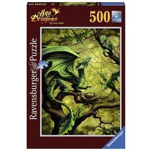"Ravensburger (14789) - Ann Stookey: ""Dragon de la Forêt"" - 500 pièces"