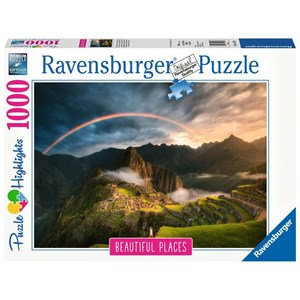 "Ravensburger (15158) - ""Rainbow over Machu Picchu, Peru"" - 1000 pièces"