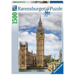 """Ravensburger (16009) - """"Funny cat on Big Ben"""" - 1500 pièces"""