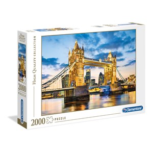 """Clementoni (32563) - """"Tower Bridge at Dusk"""" - 2000 pièces"""