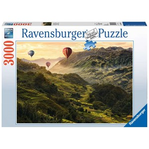 """Ravensburger (17076) - """"Terrasses de riz en Asie"""" - 3000 pièces"""
