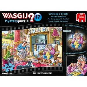 "Jumbo (19175) - ""Wasgij Mystery 17, Catching A Break"" - 1000 pièces"