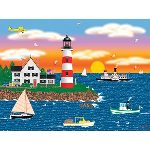 "SunsOut (22619) - Mark Frost: ""Triangle Point Lighthouse"" - 1000 pièces"