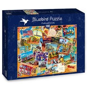 "Bluebird Puzzle (70309) - ""Postcard, USA"" - 1000 pièces"