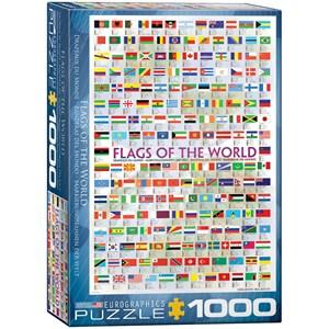 """Eurographics (6000-0128) - """"Drapeaux du monde"""" - 1000 pièces"""