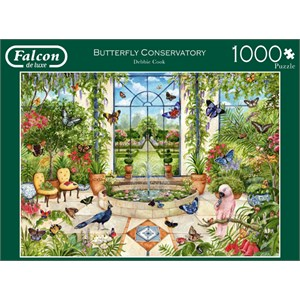 """Falcon (11255) - Debbie Cook: """"Butterfly Conservatory"""" - 1000 pièces"""