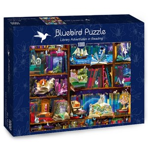 "Bluebird Puzzle (70313) - Alixandra Mullins: ""Library Adventures in Reading"" - 1000 pièces"