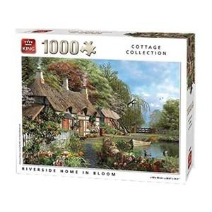 "King International (05718) - ""Riverside Home in Bloom"" - 1000 pièces"
