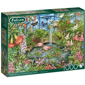 """Falcon (11295) - Debbie Cook: """"Tropical Conservatory"""" - 1000 pièces"""