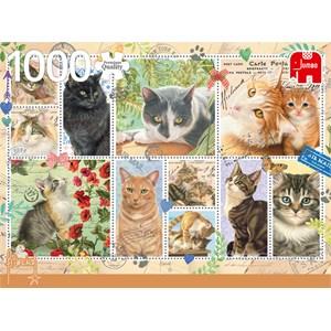 "Jumbo (18813) - Francien van Westering: ""Cat Stamps"" - 1000 pièces"