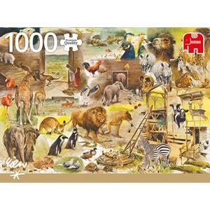 """Jumbo (18854) - Rien Poortvliet: """"Building Noah's Ark"""" - 1000 pièces"""