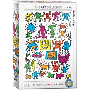 """Eurographics (6000-5513) - Keith Haring: """"Collage"""" - 1000 pièces"""