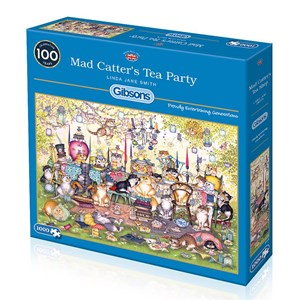 """Gibsons (G6259) - Linda Jane Smith: """"Mad Catter's Tea Party"""" - 1000 pièces"""