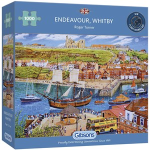 """Gibsons (G6286) - Roger Neil Turner: """"Endeavour Whitby"""" - 1000 pièces"""