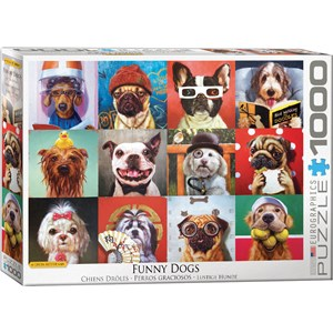 """Eurographics (6000-5523) - Lucia Heffernan: """"Funny Dogs"""" - 1000 pièces"""