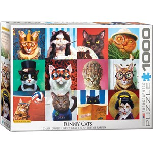 "Eurographics (6000-5522) - Lucia Heffernan: ""Funny Cats"" - 1000 pièces"