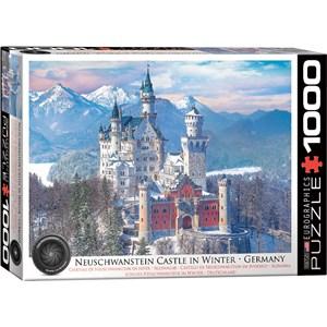 """Eurographics (6000-5419) - """"Neuschwanstein en Hiver, Allemagne"""" - 1000 pièces"""